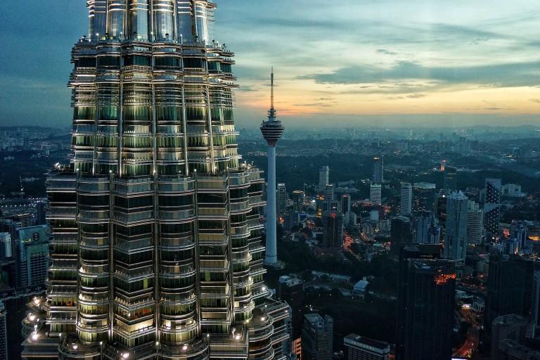 空中俯瞰那个晨起的吉隆坡