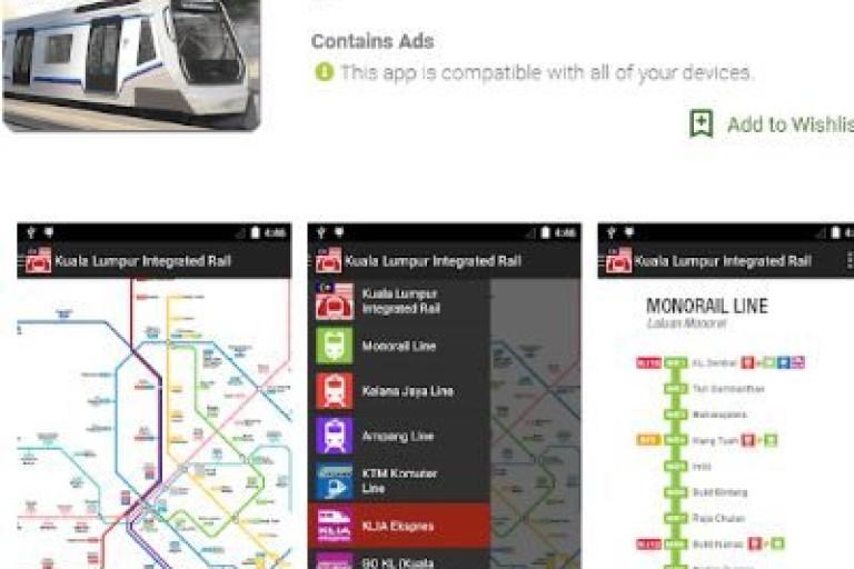 在马来西亚旅游就不得不下载的一款吉隆坡地铁线路图app