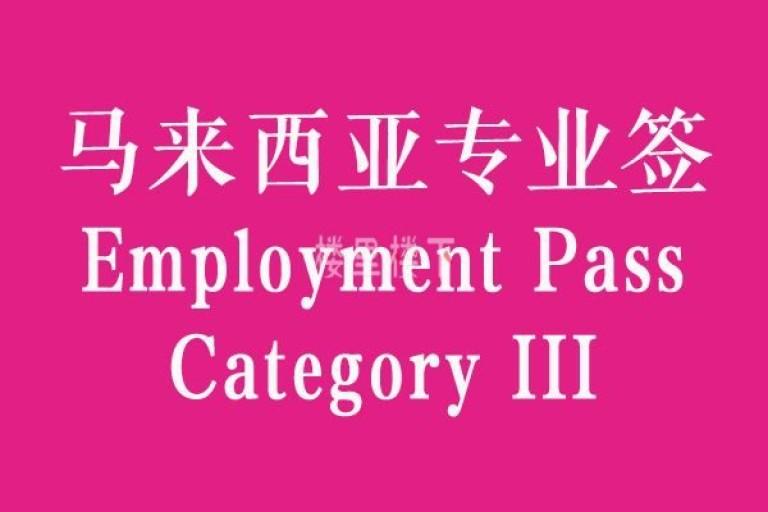 马来西亚专业签证(DP10)中的最底层类别是不可以带亲属的,你知道吗